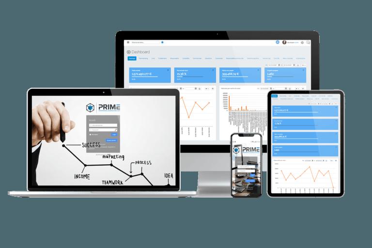 Prime - Gestionale CRM ERP BPM HR - su Desktop, Laptop, Tablet e Smartphone